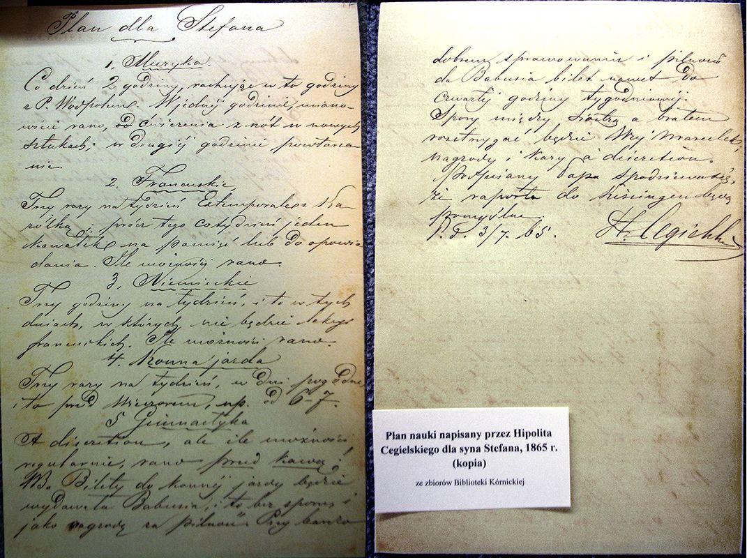 Notatki Hipolita Cegielskiego