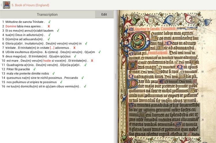 Aplikacja Medieval handwriting