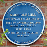 Tablica na Sarehole Mill